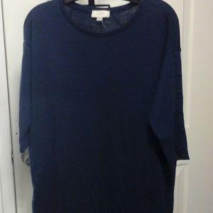 Loft Navy Blue shirt.  NWT